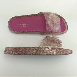 Kate Spade Glittery Flip Flop Pink size 6B
